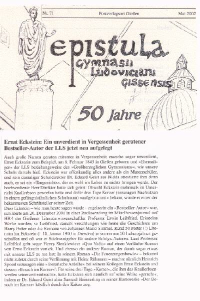 epistula Nr. 71 / Mai 2002 Teil 1